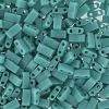 Miyuki Tila Half Cut 5X2.3mm 2Hole Turquoise Opaque Luster